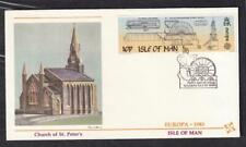 Isle of Man Europa FDC 1983 sc#244 Laxey Wheel, Fleetwood cachet