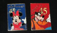 Vintage  DisneyLand /Minnnie Mouse and Goofey/ 45th anniversary Pin Back Pins