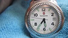 Men's Stainless Steel Victorinox Swiss Army Watch w Date feature & original Band