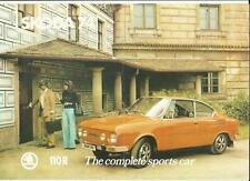 SKODA 110R  'SALES BROCHURE'/SHEET 1974