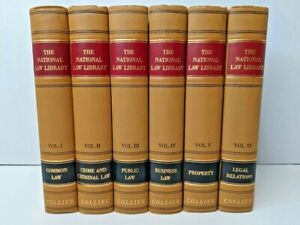 """Classic Law Books--1939 """"The National Law Library"""" Vol 1-6 by Collier & Son"""