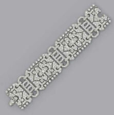 Solid 925 Sterling Silver Vintage Style Statement Bracelet Jewelry Women Gift