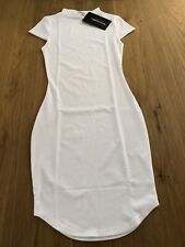 Pretty Little Thing High Neck Ribbed Bodycon Dress. New Tagged Uk 8