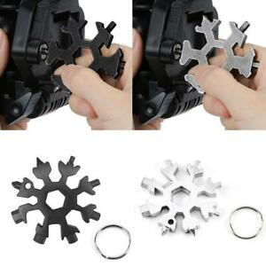 18in1 Snowflake Tool Card Multifunctional Screwdriver Wrench Stainless Steel UK