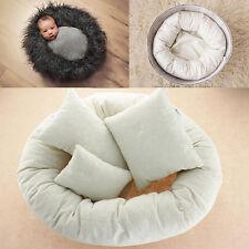 4pcs Posing Vinyl Newborn Posing Bean Bag Infant Poser Beige Pillows Photo Prop