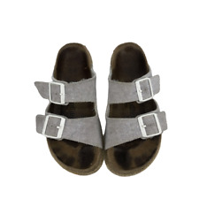 Birkenstock Womens Sandals Shoes Two Double Buckle Strap Gray Arizona 7
