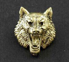 Wolf Head Solid Brass Concho For Biker Wallet ScrewBack