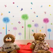 Wandtattoo Pusteblume bunt Kinderzimmer Schmetterling Wandsticker Aufkleber