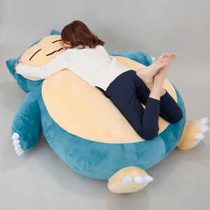 """Huge 59"""" Pokemon Go Snorlax Plush Toys Doll Pillow Bed ONLY COVER WITH ZIPPER"""
