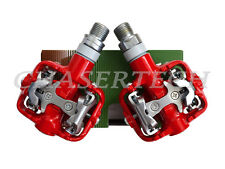 New Wellgo WPD-801 Alloy MTB Road SPD Clipless Bicycle Bike Pedals Red