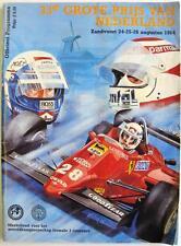 DUTCH GRAND PRIX 1984 ZAHDVOORT Formula 1 Official Programme