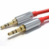 Pro Metal Aux Audio Metal 3.5mm Stereo Jack to Jack Audio Cable Gold