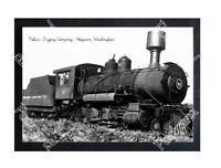 Historic Polson Logging Company - Hoquiam, Washington Train Postcard 1