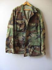 Vtg Camo Jacket Shirt Camouflage US Military M Reclaimed Medium Long
