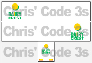 Code 3 Adhesive Vinyl Trailer Decal - Dairy Crest livery  - 1/50 1/76 1/148