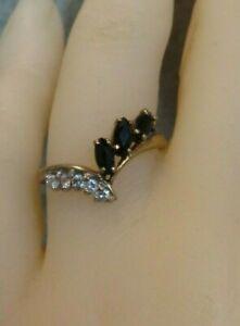 9ct Gold & Sapphire Dress Ring. Size N. Ref xeod.mx