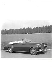 "ROLLS ROYCE SILVER CLOUD III D'HEAD COUPE ORIGINAL PRESS PHOTO ""Brochure related"