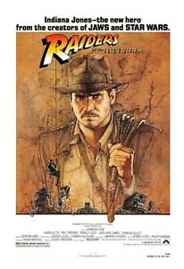 Movie Posters - Indiana Jones - Raiders of the Lost Ark - 1981 - 4 Sizes - NEW