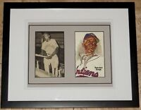 Satchel Paige Signed Autographed Framed Baseball Photo Postcard JSA Auction LOA!