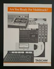Tascam - Are You Ready For Multitrack? - Vintage Original Manual