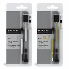 Moleskine Metallic Ink Roller Pen, Gold Ink, (Medium 0.7mm) [With Refill] (Mixed