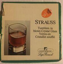 Luigi Bormioli Strauss 2 oz. Liqueur Shot Glass Set of  4 (style PM 232B)