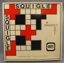 Squigle Strategy Game Vintage Boardgame Mytec 1981 Complete Geometric Shapes