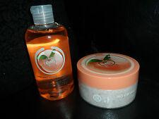 The Body Shop vineyard peach cream body scrub & shower gel