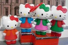 Hello Kitty Collectible Figure DOLLS 4 INCH CLIP LOT OF 4 CAKE TOP SANRIO 2012