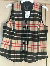 Laurel ESCADA NWT Plaid Vest Red/Black/Beige Size 38