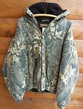 Vintage REMINGTON Camo Hunting Jacket Lined Hooded Camouflage Coat True XL