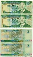 FIJI 2 DOLLARS 2000 P 102 COMM. Y2K UNCUT SHEET 2 UNC