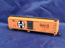 BACHMANN N SCALE - SANTA FE ALL THE WAY BOX CAR, BROWN. VINTAGE