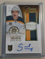 2013-14 Anthology Hockey Carl Soderberg Auto RPA Dual Relic Rookie Card # 23/50