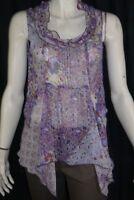 JACQUELINE RIU Taille 40 Superbe chemise blouse violette femme