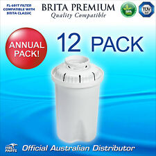 12 x FL601 Premium Water Filter Compatible with Brita Classic Jug Cartridge