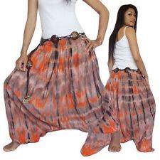 Damen-Haremshosen Damenhosen mit mittlerer Bundhöhe aus Baumwolle