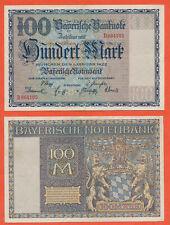Bayern Bayerische Notenbank 100 Mark BAYERN 1922 BAY 4 / Pick S923 Gebr. VF (244