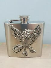 Visol 6oz. Atchison Eagle Design Stainless Steel Hip Flask