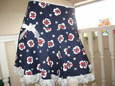 Unbranded Knee Length A-line Floral Skirts for Women
