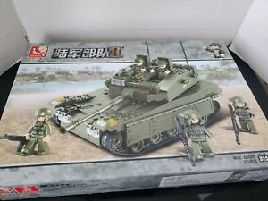 Army Merkava Tank 343 PC M38-B0305 Building Blocks Set (Open Box)