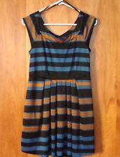 Women's XXI Twenty One Slip on Summer Dress Cap Sleeves Multi Color Sz L