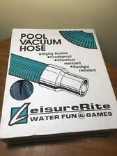 "LeisureRite Swimming Pool Vacuum Hose 1.5"" - 35' length with Swivel Ends NEW!"