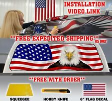 AMERICAN FLAG EAGLE PICK-UP TRUCK REAR WINDOW GRAPHIC DECAL PERFORATED VINYL**