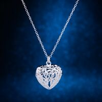 Schmuck Herz 925 Silber pl. Halskette Kette & Anhänger Geschenk Valentinstag
