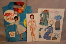 1962 ANNETTE DISNEY Paper Doll Book - WHITMAN #1956 - UNCUT RARE ORIGINAL