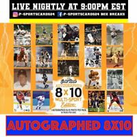 2020 GOLD-RUSH AUTOGRAPHED 8X10 MULTI-SPORT EDITION PHOTO LIVE BOX BREAK #3752