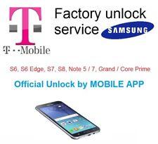 T-mobile Samsung unlock code service GALAXY S7, S8, Note 5,7, Prime, S6 EDGE