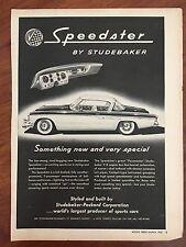 Vintage 1955 Original Black & White Print Ad STUDEBAKER SPEEDSTER