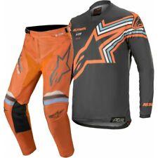 2020 Gris Oscuro Alpinestars Racer Braap Flo Naranja Motocross MX Adulto Raza Gear